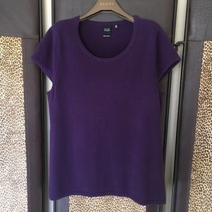 Saks Fifth Avenue 100% Cashmere Sweater SS XL $165